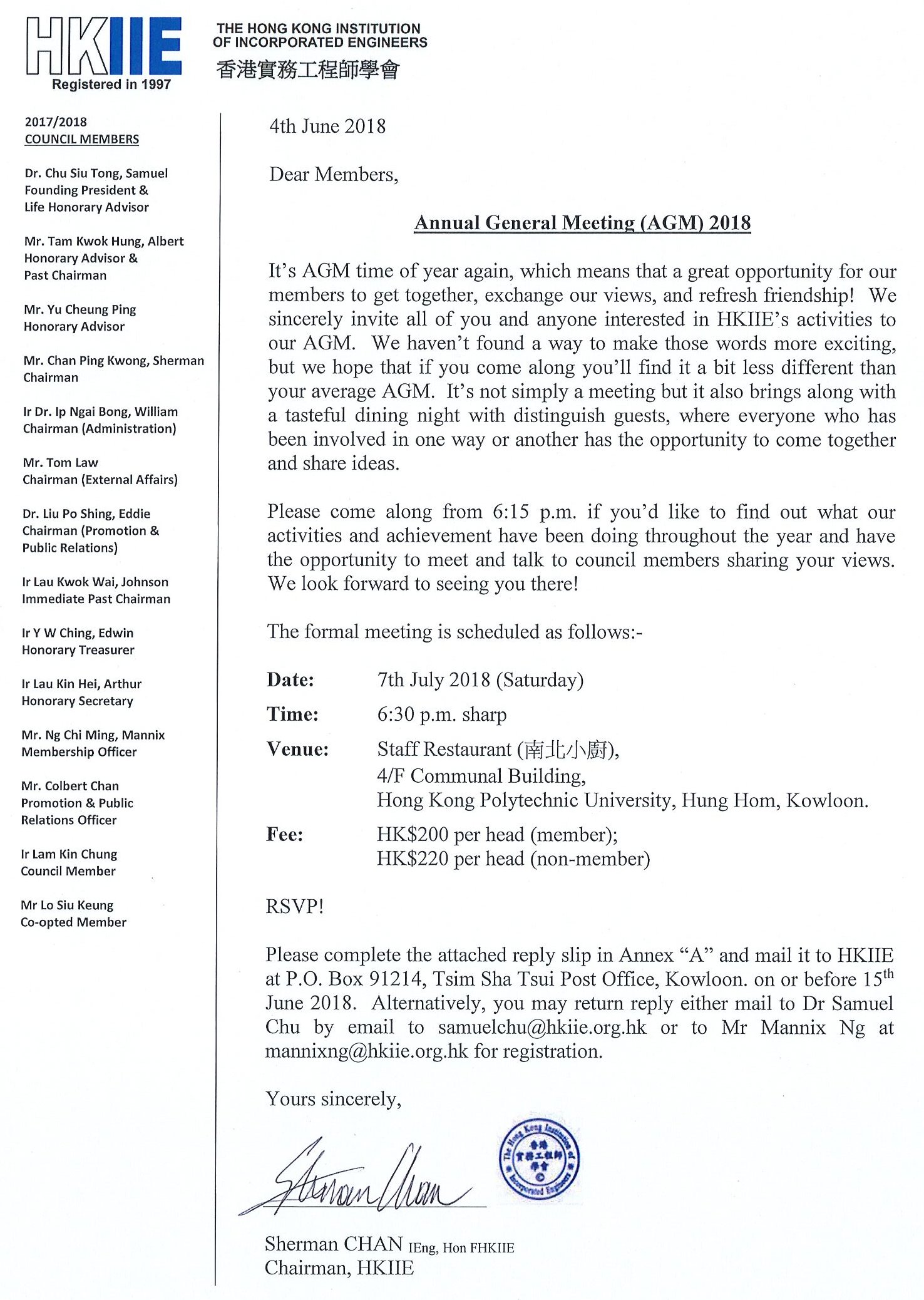 Notification of AGM 2018 Page 1
